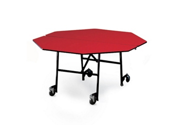 """Octagonal Folding Cafeteria Table with T-Leg – 60""""W x 60""""D, 46713"""