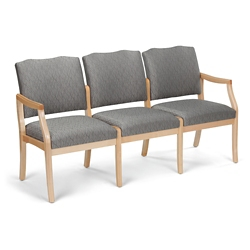 Spencer Three Seater Fabric/Vinyl Sofa, 76686