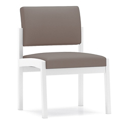 Armless Fabric Guest Chair with Steel Frame, 76895