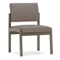 Armless Designer Fabric Guest Chair with Steel Frame, 76896