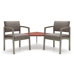 Two Steel Frame Chairs with Corner Table, 76901