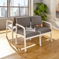 Two Seat Designer Sofa with Steel Frame, 76904