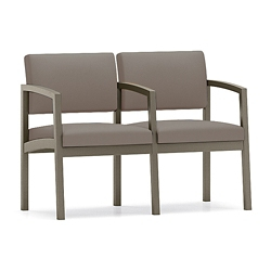 Two Seat Metal Frame Sofa with Center Arm, 76905