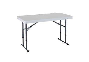 "Adjustable Height Folding Table - 24"" x 48"", 46810"