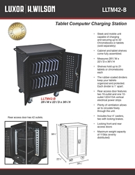 "Locking 42 Tablet Charging Cart - 36.75""H, 60027"