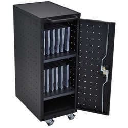 "Locking 12 Tablet Mobile Charging Cart - 39.625""H, 60028"
