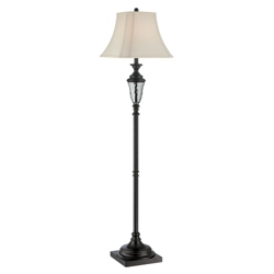 Hudson Floor Lamp with Fabric Shade, 87260
