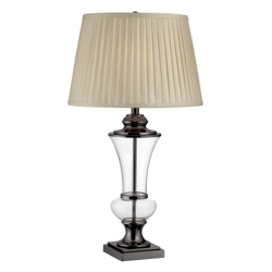 Table Lamp with Pleated Fabric Shade, 87263