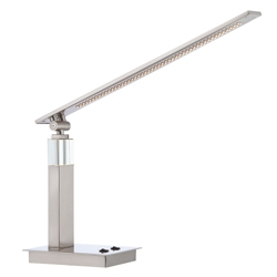 Steel LED Desk Lamp with Night Light, 87278