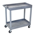 Gray Two Shelf High Capacity Tub Cart, 36510