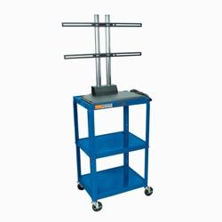 Adjustable Height Steel TV Cart, 43212