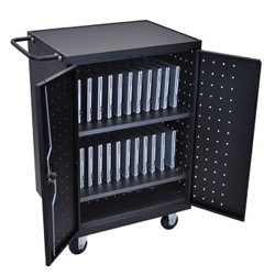 "Mobile Lockable 24 Tablet Charging Cart- 40.175""H, 43399"