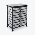 "Mobile Storage Cart with 16 Small Bins – 37.5""H, 37016"