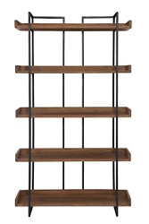 "Five Shelf Bookcase Small -75.5""H, 33058"