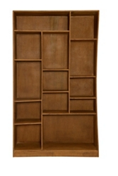 "13 Compartment Left-Facing Cube Bookcase- 79""H, 33055"