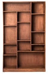 "13 Compartment Right-Facing Cube Bookcase- 79""H, 33056"