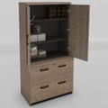 "Urban Wardrobe with Lateral File - 36""W, 36743"