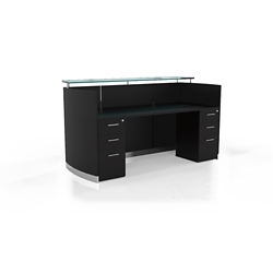 "Reception Station with Two File Drawers - 87.25""W, 10097"