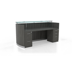 "Reception Station with Three File Drawers - 87.25""W, 10098"