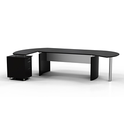 "Contemporary L-Desk with Left Return - 116""W x 63""D, 10100"