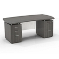 "Double Mixed Pedestal Executive Desk with Modesty Panel - 72""W, 14094"