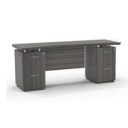 """Double File Pedestal Credenza with Modesty Panel - 72""""W, 14096"""