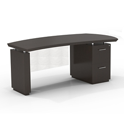 """Right File Pedestal Executive Desk with Modesty Panel - 72""""W, 14099"""
