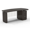 "Right File Pedestal Executive Desk with Modesty Panel - 72""W, 14099"