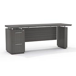 "Reversible File Pedestal Credenza with Modesty Panel - 66""W, 14108"