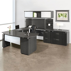 Right U-Desk with Hutch and Storage, 14126
