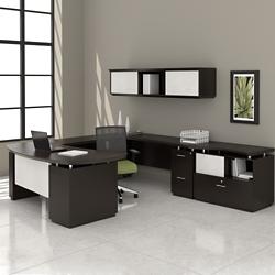 Right U-Desk with Hutch and Storage, 14127