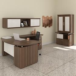 Right Bowfront L-Desk Office Suite, 14130