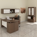 Right Bowfront L-Desk Office Suite, 14130