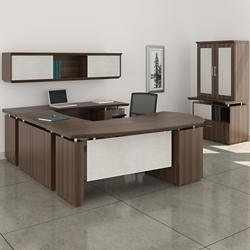 Right Executive U-Desk with Storage Set, 14131