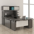 "Right Executive U-Desk with Hutch - 72""W, 14132"