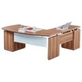 "Left Bowfront L-Desk with Modesty Panel - 72""W, 14170"