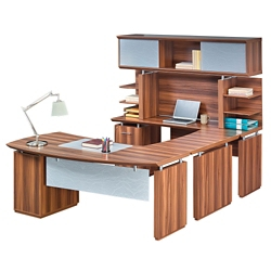 "Left Executive U-Desk with Hutch - 72""W, 14171"