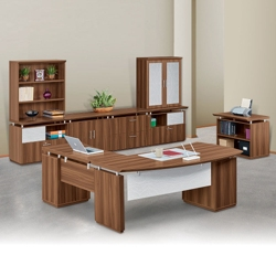 Right Bowfront Complete L-Desk Office Suite, 14240