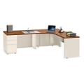 "Alloy Metal L Desk with Left Return and Three Drawers - 72""W, 14400"
