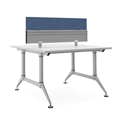 "Dual-Sided Two Person Workstation with Divider - 48""W x 48""D, 14613"