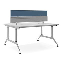 "Dual-Sided Two Person Workstation with Divider - 60""W x 48""D, 14614"