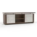 "Six Shelf Low Wall Cabinet with Acrylic Doors - 84""W, 36595"