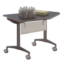 "Mobile Flip Top Nesting Transition Table with Modesty Panel - 48""W x 24""D, 41766"