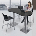 "Standing Height Peanut Shaped Table - 72""W, 46872"