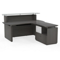 "Reception L-Desk with Glass Counter - 72""W, 76410-1"
