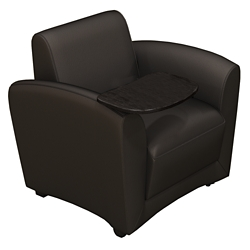 Leather Mobile Lounge Chair with Tablet Arm, 76489