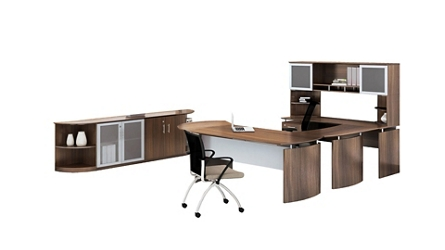 "Complete Contemporary Left U-Desk Office Set - 119""W x 104""D, 14866"