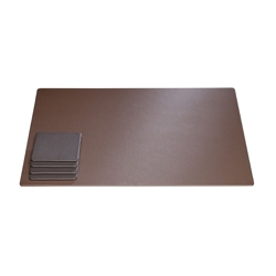 "Faux Leather Desk Pad - 22""W x 16""H, 87767"