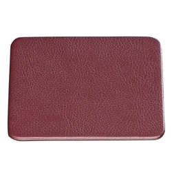 """Set of 4 Faux Leather Coasters - 4.5""""W x 4.5""""H, 87769"""