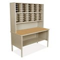 Mailroom Organizer w/ Open Storage, 50 Pockets, 220017